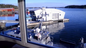 Servicehus vid sjöbevakningsstationen i Borgå.