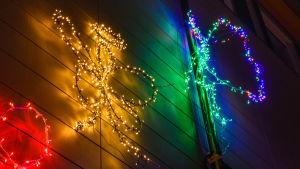 Ljuskonst på vägg