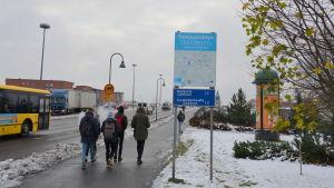 Testrutt för vintercykling i Åbo.