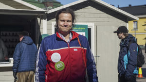 Riksdagsvalskandidat Ville-Veikko Rantamaula.
