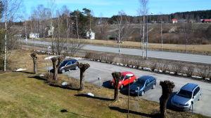 Vy över Borgnäsvägen i Nickby.