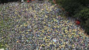 Upp till en halv miljon Hongkongbor väntas delta i söndagens protester som kan bli de största på 15 år