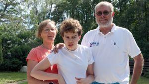 Familjen Tallberg på Drumsö.