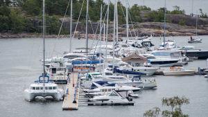 Segelbåtar på Hangö regattan