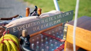 En detalj på Jean-Francois Alliets vagn