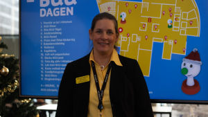 BUU-dagen i Hfors 2019. Arcadas eventmanager Maria von Bonsdorff-Hermonen.