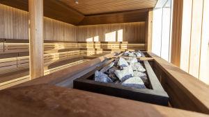 Bastuavdelningen ombord Costa Smeralda.