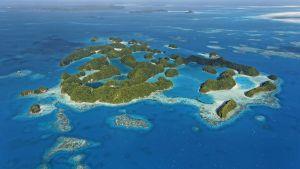En bild på en av Palaus öar.