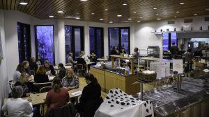 Personalcaféet i nya kommungården