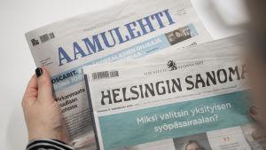 Aamulehti ja Helsinginsanomat printtiversiot