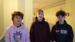 Tre killar.
