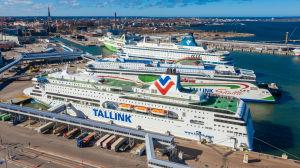 Laivoja on laiturissa Tallinnan satamassa.