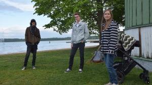 Peik von Essen, Felix Lönnqvist och Jenny Eliasson.