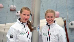 Porträttbild på Catharina Sandman och Cecilia Sandman.
