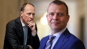 Jussi Halla-aho och Petteri Orpo.