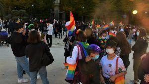 Många unga slöt upp till manifestationen i Ancona lördagen den 17 oktober.