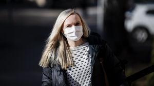 Maria Ohisalo saapui Säätytalolle 23. maaliskuuta.