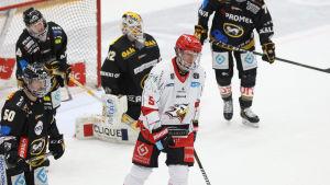 Olavi Vauhkonen framför Kärpäts mål.