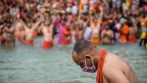 Kumbh Mela festivalen i Indien