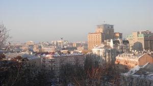 Vy över centrum av Kiev