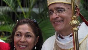 Biskop Silvio Báez.