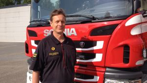 Ledande brandinspektör Jörgen Lang.