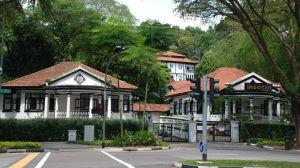 Koloniala villor i Singapore.