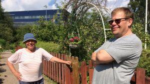 Marc Aulén i Brunakärrs koloniträdgård