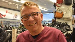 Tapio Viljanen på Wild shoe i Ekenäs