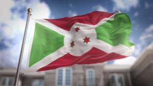 Burundis flagga.