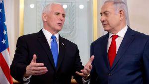 Mike Pence och Benjamin Netanyahu