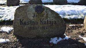 Jägare Kustaa Katajas grav i Kellinghusen