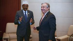 Abdullahi Mohamed och Guterres.