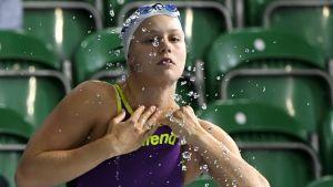 Ida Hulkko var femte snabbast i semifinalerna på 50 meter bröstsim.