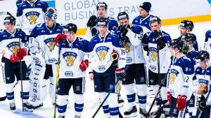 Lejonen efter förlusten mot Ryssland i Helsingfors.