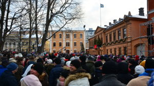 Publik under julfreden i Åbo 2018.