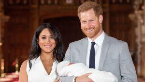 Prins Harry och hertiginnan Meghan visade upp sin nyfödda son den 8 maj. Hertiginnan kommer inte att delta i evenemangen kring Trumps statsgbesök.