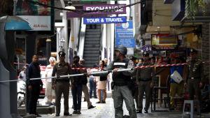 Rebellgruppen BRN förnekar att den låg bakom en serie bombattacker som skakade centrum av Bangkok den 2 augusti