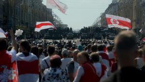 Demonstrationer i Minsk 30.8.2020