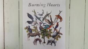 Burning Hearts logo.