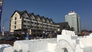 Det norska hotellet för längd- och skidskyttelandslaget vid OS i Pyeongchang 2018.