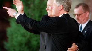 Bill Clinton och Boris Yeltsin i Helsingfors 21.3.1997.