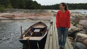 Nina Katchadourian är konstnär med rötter på Pörtö i Borgå