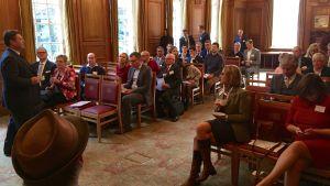 Seminarium om Estlands e-invånarskap pågår i Pewterers Hall i London