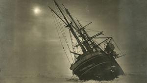Skeppet Endurance fast i isen