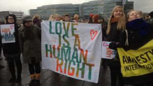 Kärleksdemonstration 28.11.2014