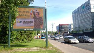 reklamskärm på paciusgatan