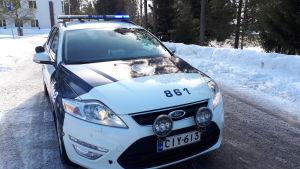 Polisbil Österbottens polisinrättning.