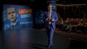Petteri Orpo puhuu kokoomusristeilyllä
