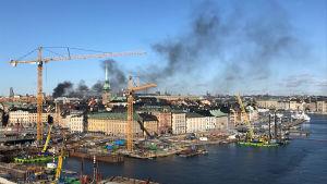 Bussexplosion i Stockholm.
